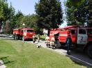 На территории учреждения ГКУ «НПНИ» МТиСЗ КБР были проведены  пожарно- тактические занятия с личным составом Главного управления МЧС России по КБР